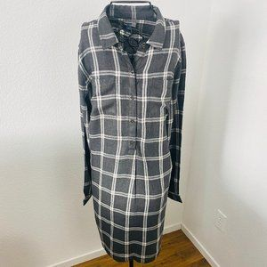 OLD NAVY DRESS Button Down Long Sleeve Shirt Gray